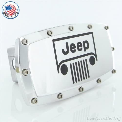 Jeep Black Trim Billet Aluminum Tow Hitch Cover
