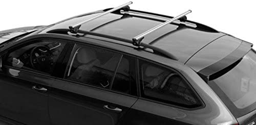 NORDRIVE N15046-9853 Nordrive Aluminium Roof Rack Railing Bars 127 cm Maximum Load 90 Kg Attach To Raised Roof Rails