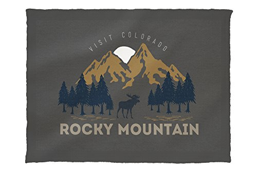 Rocky Mountain National Park, Colorado - Moose and Trees (60x80 Poly Fleece Thick Plush Blanket)