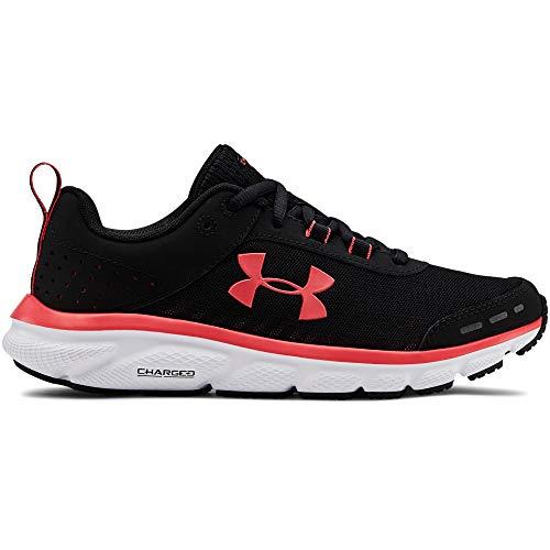 Under Armour Women's Charged Assert 8 Running Shoe, Black (003)/White, 8.5