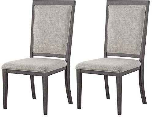 Ashley Furniture Signature Design - Chadoni Dining Side Chair - Set of 2 - Upholstered - Metal Accents - Smoky Gray Finish by Signature Design by Ashley (Image #9)
