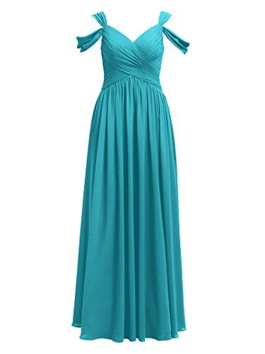 Alicepub Robe De Demoiselle D'honneur Maxi En Mousseline De Soie Plissée Longue Robes De Soirée Turquoise Fête De Mariage