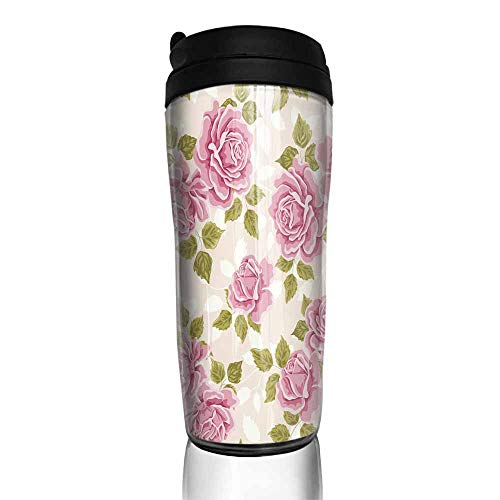 coffee cups for mom Seamless wallpaper pattern with roses5 12 oz,coffee cup warmer for desk auto shut - Mug Ounce 12 Desk