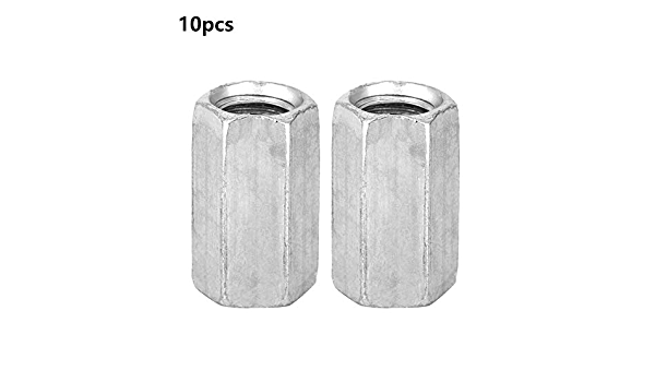 Long Rod for Home Office Appliance ship assembly Communication Equipment Nut Fastener galvanized Long Rod Nut 5pcs carbon steel Thread Nut