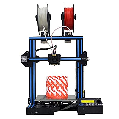KingSo A10M 3D Printer with Mix-Color Printing, Dual extruder Design, Filament Detector and Break-resuming Function