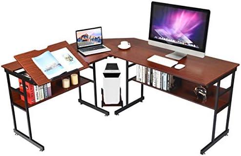 Sauder Shoal Creek Executive Desk,Jamocha Wood finish