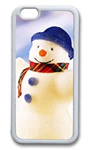 MOKSHOP Adorable Happy Snowman Christmas Soft Case Protective Shell Cell Phone Cover For Apple Iphone 6 Plus (5.5 Inch) - TPU White