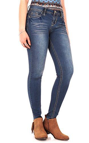 WallFlower Women's Juniors High Rise Irresistible Denim Jegging in Varsity Blue Size: 11 Short