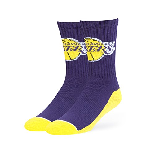 NBA Los Angeles Lakers OTS Anthem Sport Sock, Purple, Large (La Lakers Socks)