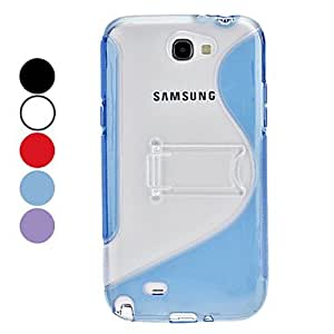 ZCL S-Shape Hard Case with Stand for Samsung Galaxy Note 2 N7100 (Assorted Colors) , White