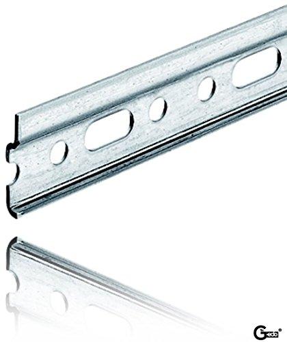 GedoTec® Profi Schrankaufhänger Aufhängeschiene - Oberschrank   Länge 1150 mm   Stahl verzinkt   sehr stabile Schrank-Schiene kürzbar für Küchen-Hängeschränke   Markenqualität für Ihren Wohnbereich
