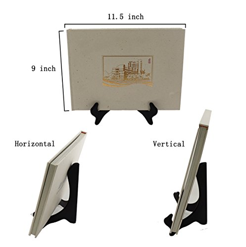 Artliving Black 8 Inch Wood-like Easels Plate Stand Holder Display Stands Picture Frame Stand-Set of 2 by Artliving (Image #5)