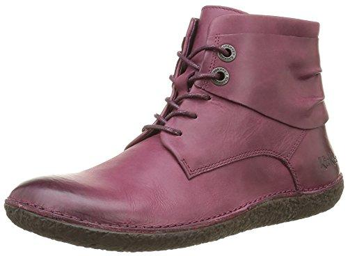 Kickers Hobylow, Zapatos de Cordones Derby para Mujer Rojo - Rot (18)