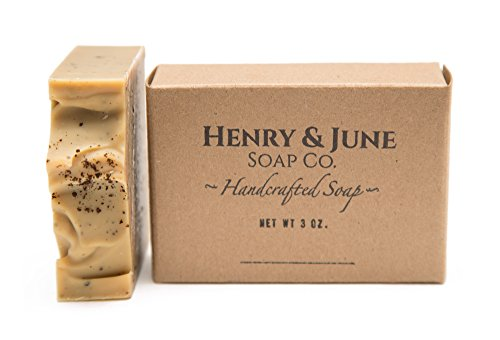 Orange & Coffee Bar Soap, 100% Natural & Organic Ingredients, With Organic Cocoa Butter & Scented with Essential Oils. Skincare Handmade in USA. By Henry & June Soap Co. 3 - Organics Soap Bar Scented
