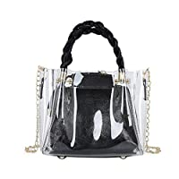 Gogoodgo Crossbody Bags for Women,Transparent Cross Body Bag Long Over The Shoulder Sling Womens Purses and Handbags Black