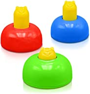 Playzone-fit Wack-a-Tag - Set of 3 Colorful Whack a Mole Pop Up Toys - Great Indoor & Outdoor Active Play