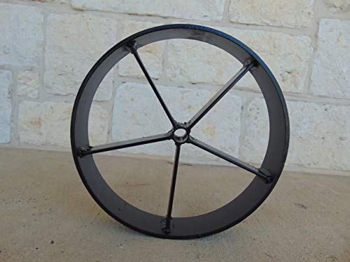 Helotes Pits 12 inch Steel Barbecue Pit Wagon Wheels (12.75, 2.5) ()
