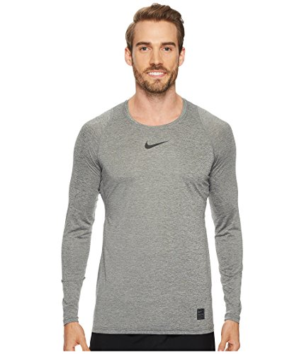 Nike Men's Pro Top Carbon Heather/Black Size Large