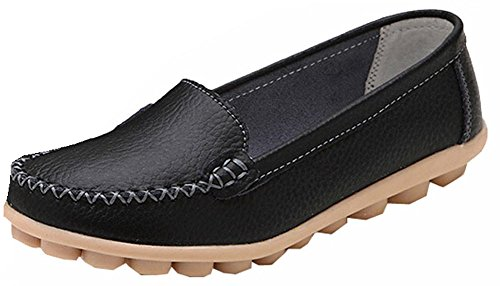 Neue 2015 Frauen Flats Schuhe Comfort Schuhe Mokassins schwarz