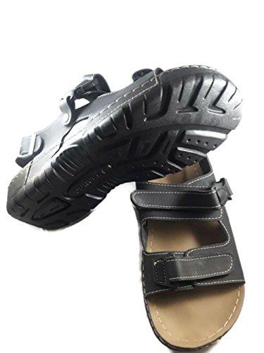 4 smarts Hombre Vestir De Para Sandalias Negro Piel Zx1p8qZBw