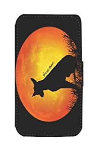 Rikki KnightTM Great Dane Dog Silhouette By Moon Design Galaxy S4 PU Leather Wallet Type Flip Case with Magnetic Flap and Wristlet for Samsung Galaxy S4 i9500