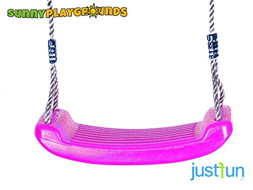 SWING SEAT PINK with FREE ROPE--Outdoor and Indoor Playground Set Accessories For (Molded Swing Seat)