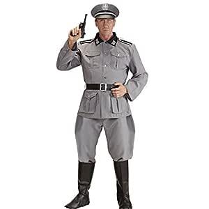 NET TOYS Disfraz Soldado alemán Disfraz Soldado Segunda Guerra Mundial XL 54 Traje histórico Oficial Uniforme de General Militar Atuendo 2ª GM Outfit ...