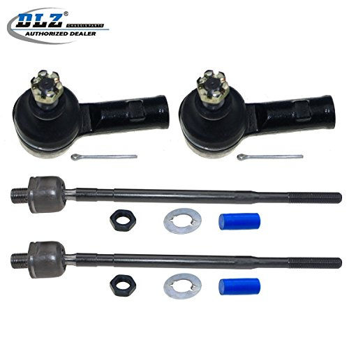 (DLZ 4 Pcs Front Suspension Kit-2 Inner 2 Outer Tie Rod End Compatible with 1993-1994 Dodge Colt, 1993-1994 Plymouth Colt 1993-1995 Eagle Summit 1993-2002 Mitsubishi Mirage )
