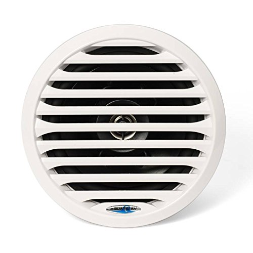 Aquatic AV PR 6.5'' Pro-Series White Marine Speaker 100W MAX, 50W RMS AQ-SPK6.5-4LW by Aquatic AV (Image #1)