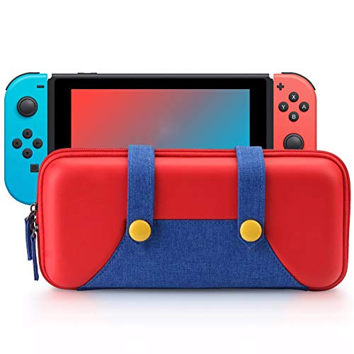 ZTPOWER Carrying Case Compatible with Game Switch, Portable Travel Carry Case Bag for Game Console & Accessories (Red Carrying Case)