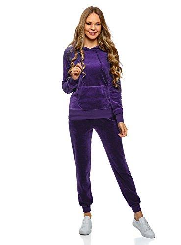 Maglia Maglia Ultra Hoodie oodji Blu Basic Basic Basic 7501n Tasca Donna con Ff4nAEn