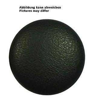 Lederknopf Lederknöpfe 20 mm schwarz Echtleder bezogen