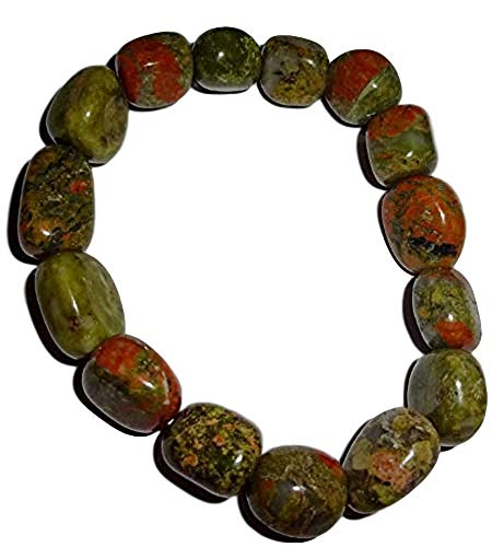 - Sublime Gifts 1pc Unakite Premium Quality Tumbled Crystal Healing Gemstone 6-8 Mm Nugget Beaded Stretch Bracelet
