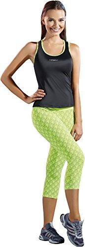 Haby Womens Yoga Gym Running Tank Top Legging Capris Green L 61501-500VE