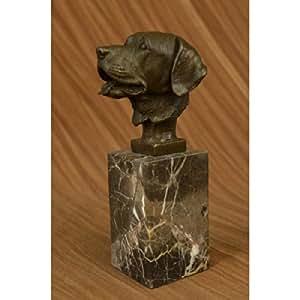 EUROPEAN BRONZE - Figura de Perro Salchicha con Cabeza de Bronce para Sujetar Libros, Escultura: Amazon.es: Hogar
