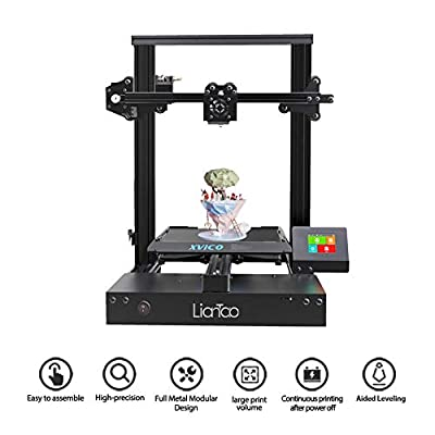 Xvico X3 3D Printer Aluminum DIY with Resume Print Removable Magnetic Bed,Free MicroSD Card Supports Multiple Languages 220x220x240mm for Home and School Use