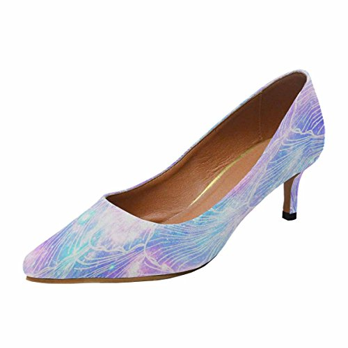 Talon De Chaton Lowprint Womensprintprint Bout Pointu Robe Pompe Chaussures Galaxy Impression Multi 1