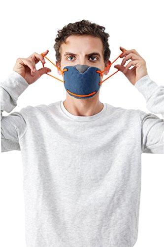 BANALE MKC106 Masque Anti Pollution Mixte Adulte, Noir Bleu/Orange