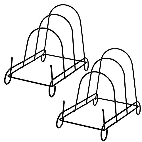 (Artliving 3-Tier Metal Scrollwork Dish Rack Plate Rack Display Stand Holder Cabinet Organizer Set of 2)