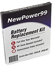NewPower99 Battery Replacement Kit with Battery, Video Instructions and Tools for Garmin Nuvi 2555LMT