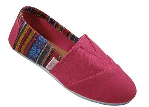 Scarpe 18 Scarpe Da Donna Slip On Shoes Appartamenti 2 Toni 10 Colori Fushia 308l