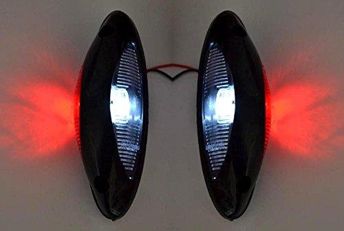 2 luci di ingombro laterali a led 12 24 v. colore: rosso bianco