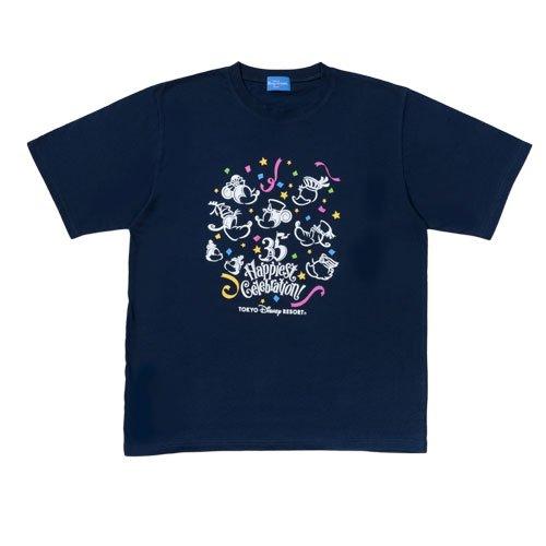 に向かってトランスペアレント効率Tシャツ ネイビー ワンサイズ 東京ディズニーリゾート35周年 Happiest Celebration! TDR35th 【東京ディズニーリゾート限定】