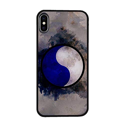 Skinsends U. S. Army - 29th Infantry Division Phone Case Compatible with iPhone X/Xs, Blue and Gray U. S. A. Hard Plastic Previous Cases Compatible with iPhone Xs ()
