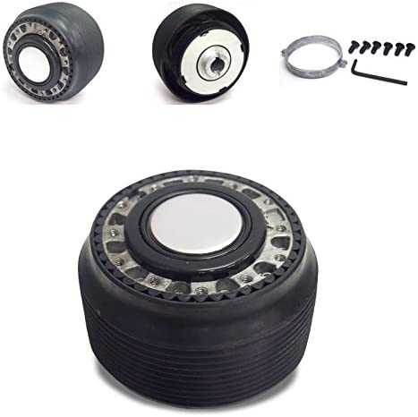 Black 6-Hole Racing Steering Wheel Hub Adapter For Civic//CRX//Prelude//Accord//Integra