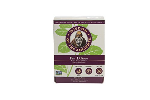 Wisdom of the Ancients Pau D' Arco Tea Bags, 1.1 Ounce