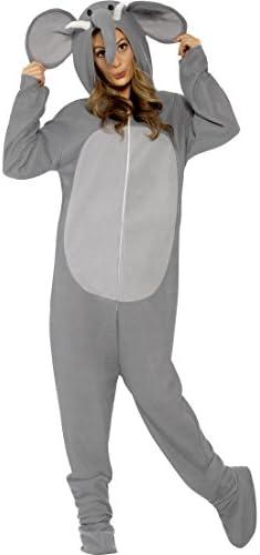 Traje de todo el cuerpo del elefante de peluche disfraz Mono ...
