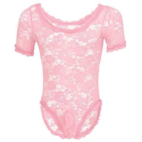 Women Sheer Mesh Transparent Bodysuit High Cut Leotard Swimsuit Bikini Nightwear