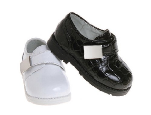 (Infant Toddler Boys Dress Shoes - Croco Patent (3, Black))