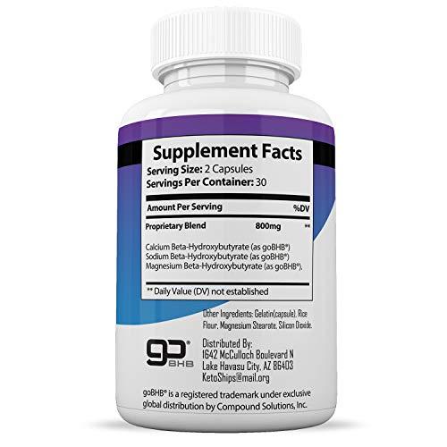 Keto Pills from Shark Tank - Weight Loss Supplement - Best Keto Diet Pills - Burns Fat Fast by Scottsdale's Vitamins (Image #1)